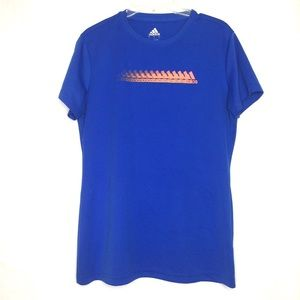 3 for $30 Adidas Women's Blue Athletic Shirt